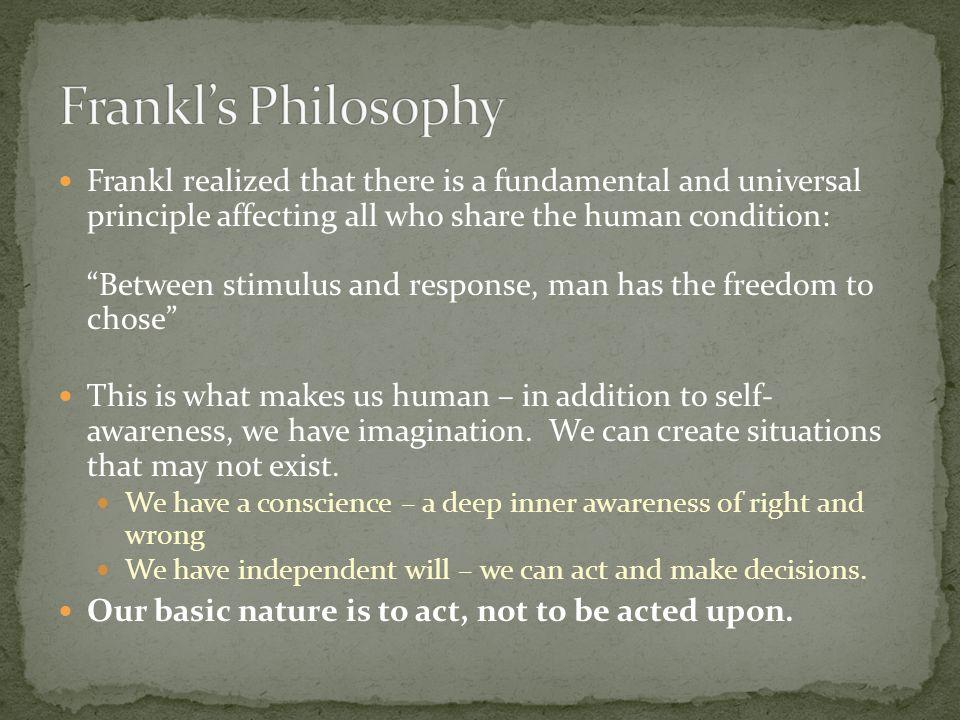 Frankl's Philosophy