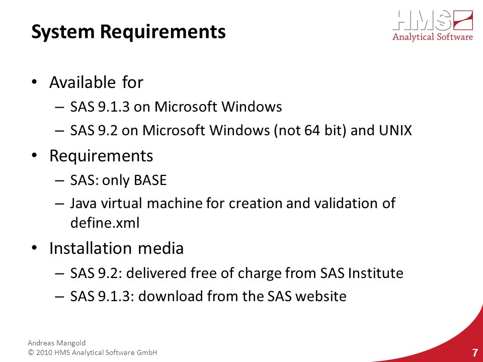 System Requirements Available for Requirements Installation media