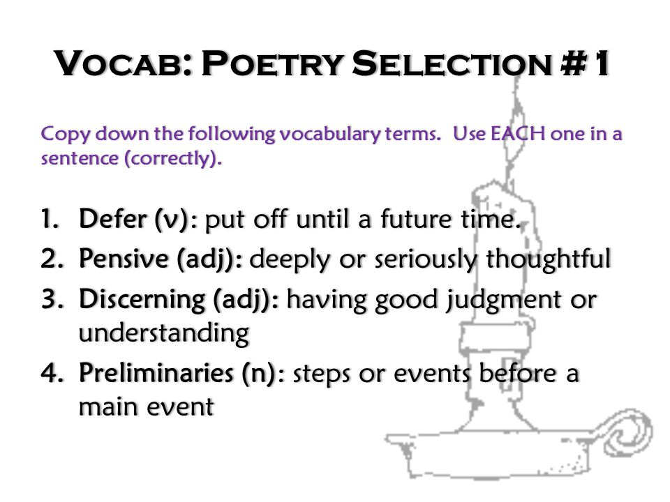 Vocab: Poetry Selection #1