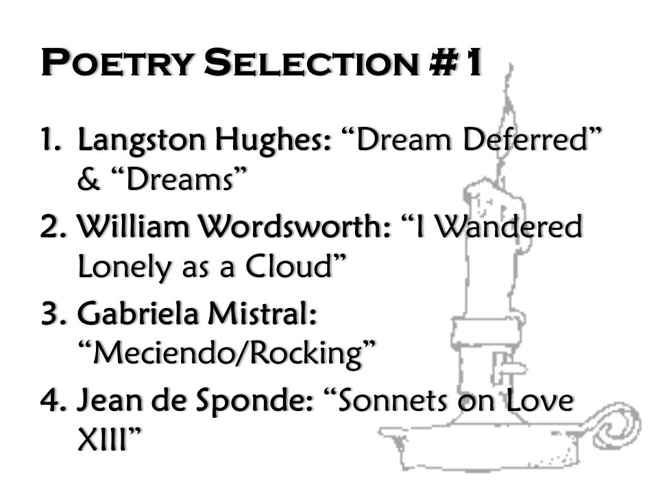 Poetry Selection #1 Langston Hughes: Dream Deferred & Dreams