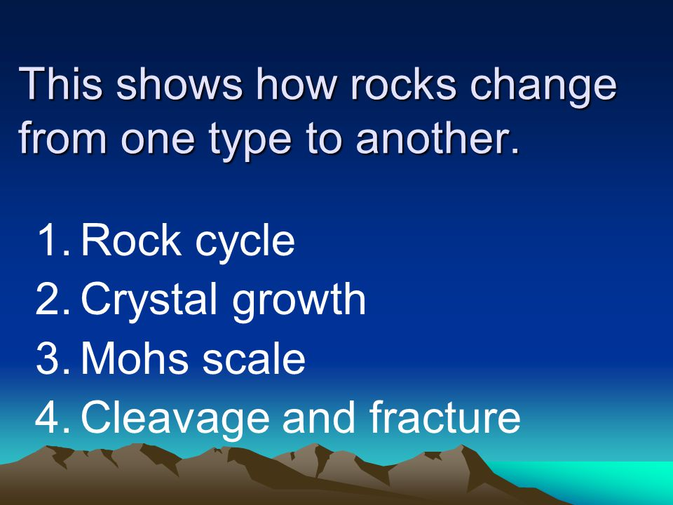 This shows how rocks change from one type to another.