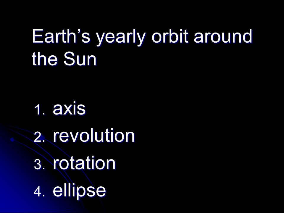 Earth's yearly orbit around the Sun