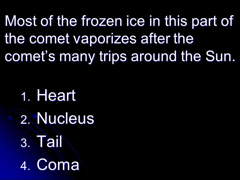 Heart Nucleus Tail Coma