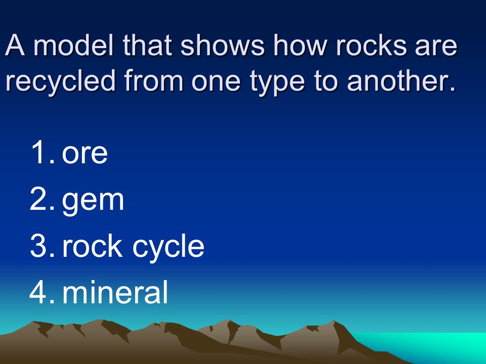 A model that shows how rocks are recycled from one type to another.