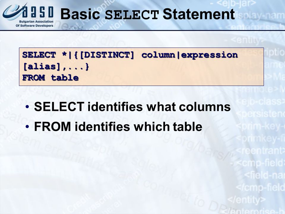 Basic SELECT Statement