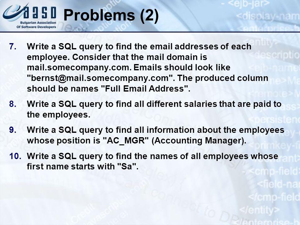 * 07/16/96. Problems (2)