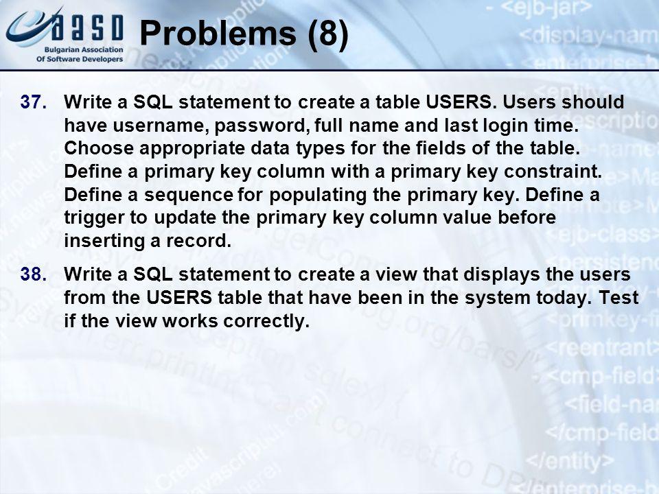 * 07/16/96. Problems (8)
