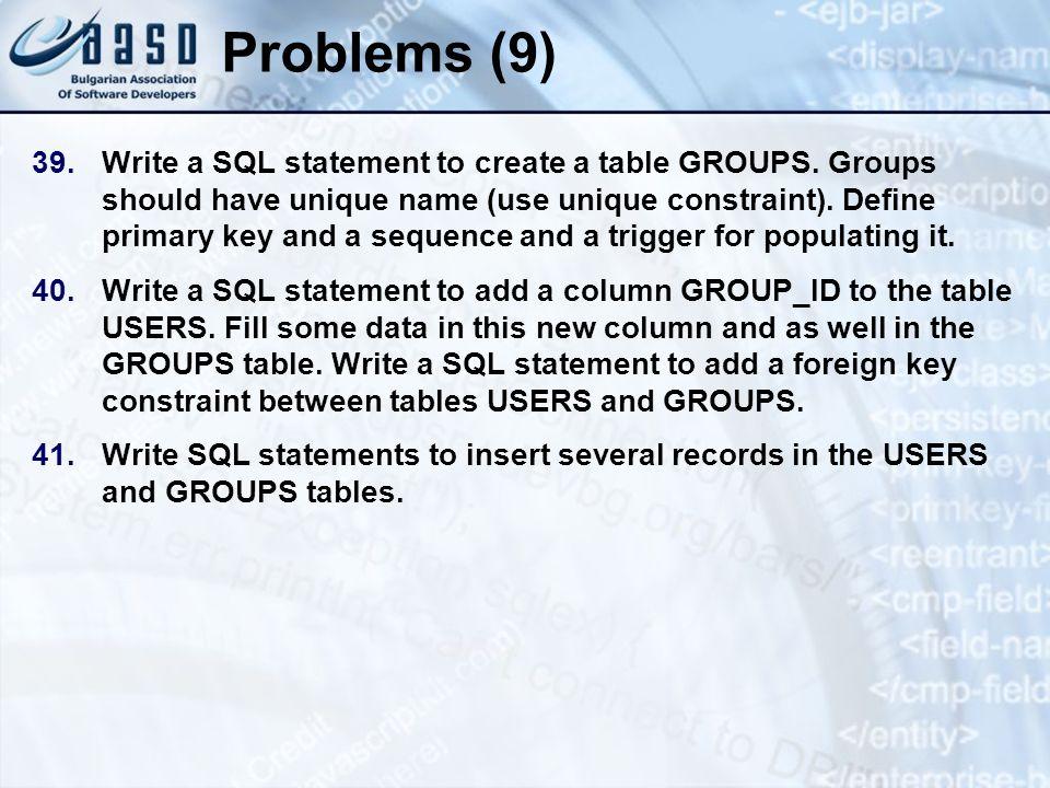 * 07/16/96. Problems (9)