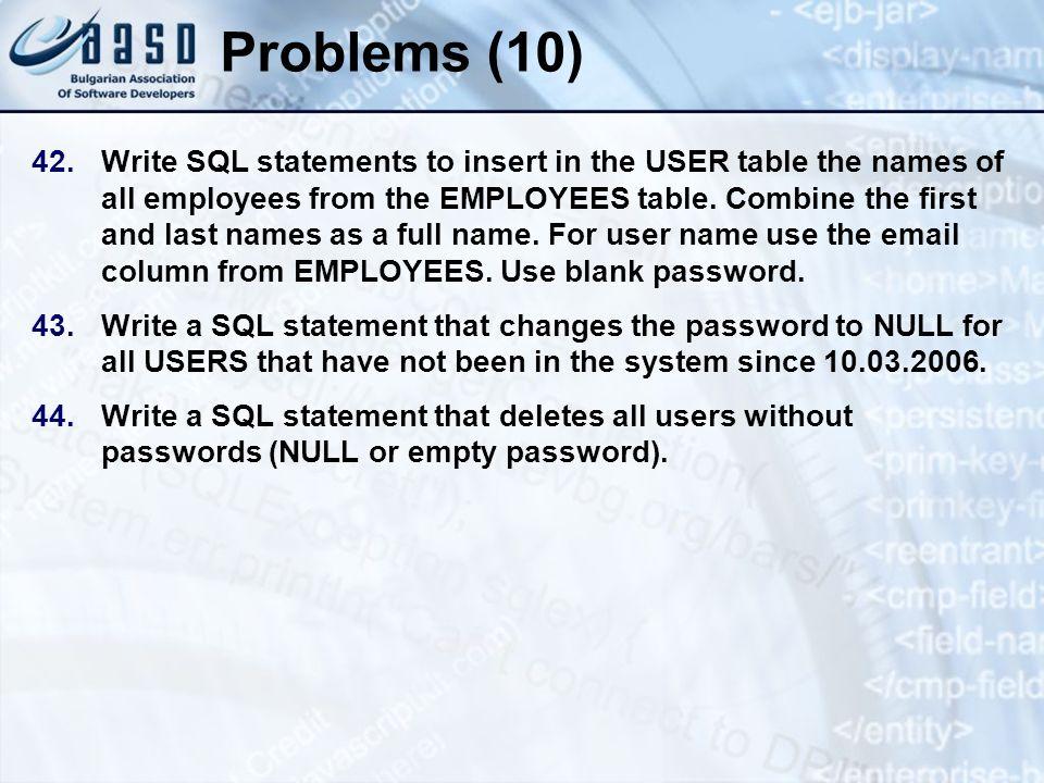 * 07/16/96. Problems (10)