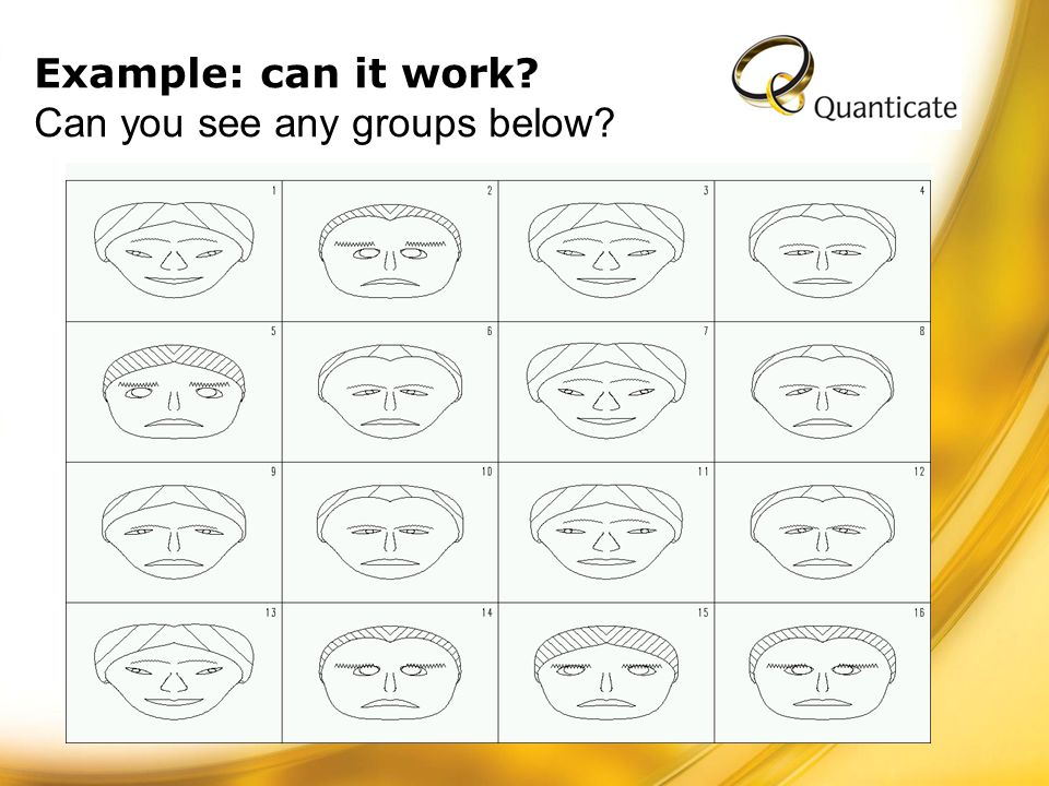 Example: can it work Can you see any groups below