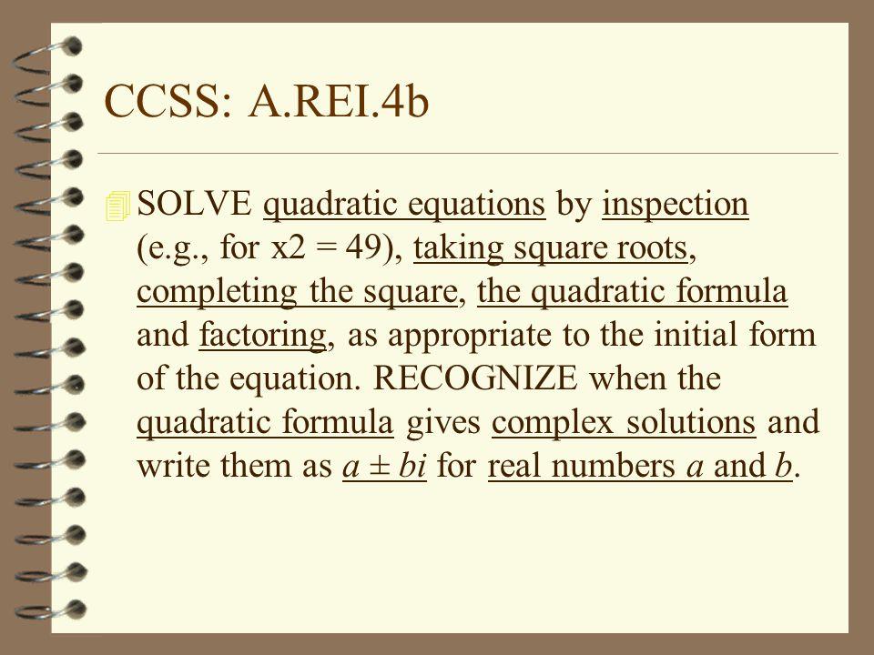 CCSS: A.REI.4b