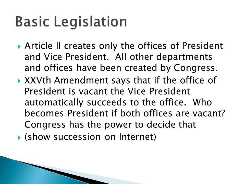 Basic Legislation