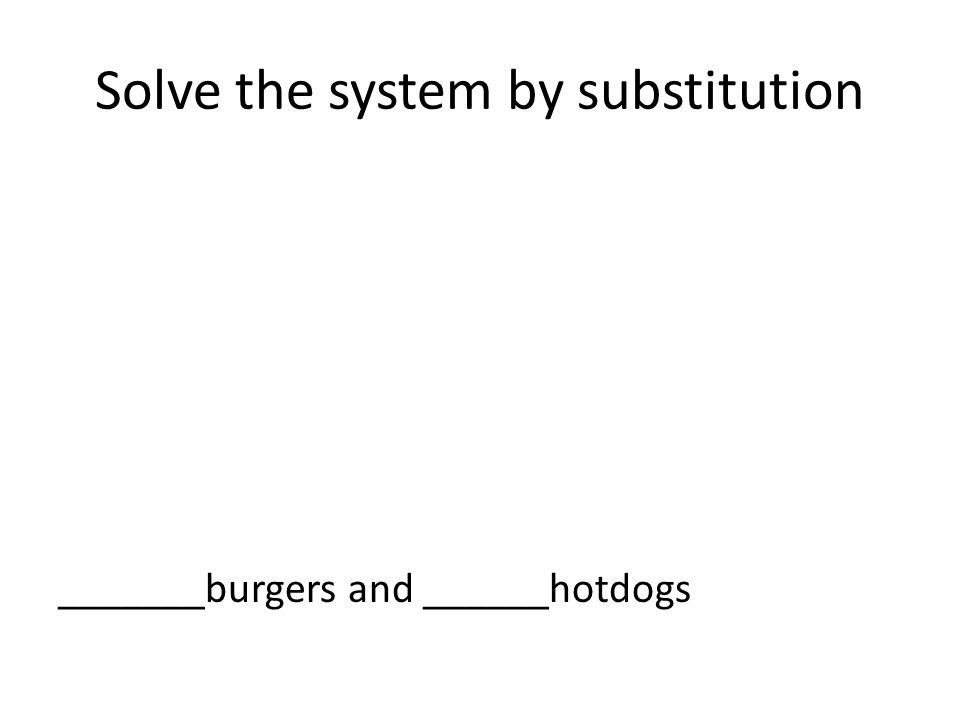 Solve the system by substitution