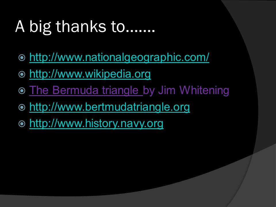 A big thanks to……. http://www.nationalgeographic.com/