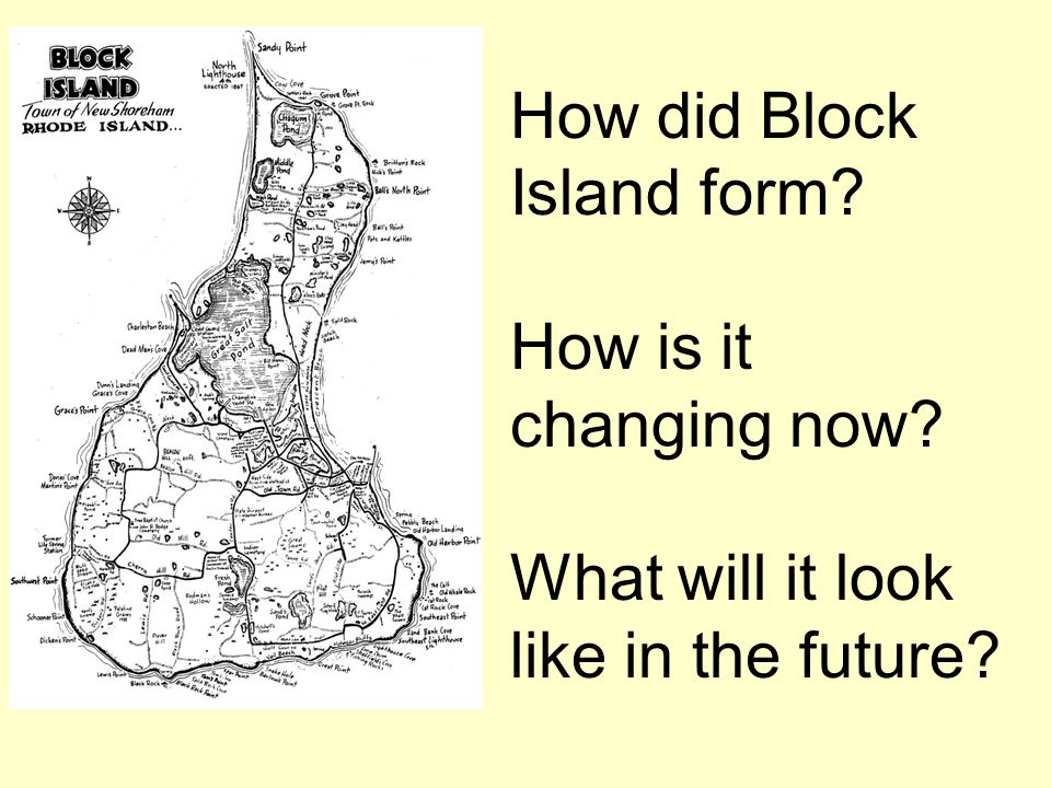How did Block Island form. How is it changing now