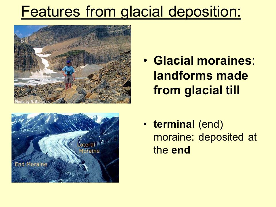 Features from glacial deposition: