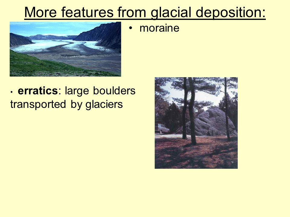 More features from glacial deposition: