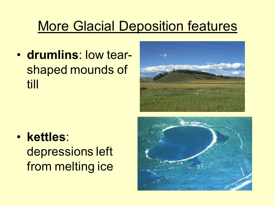 More Glacial Deposition features