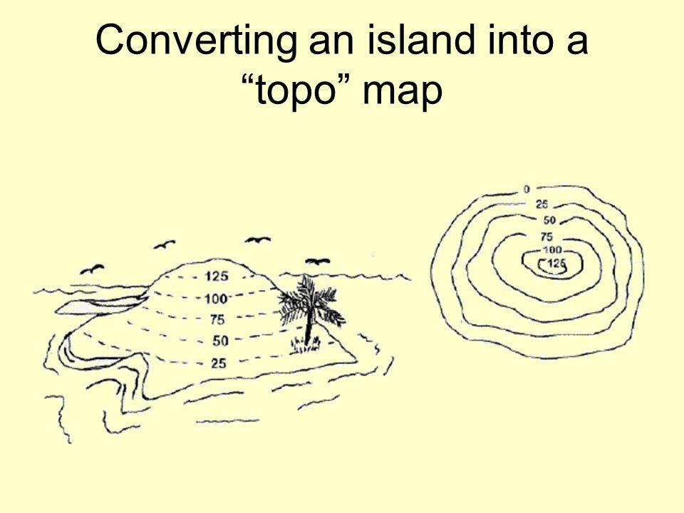 Converting an island into a topo map