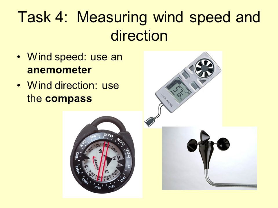 Task 4: Measuring wind speed and direction
