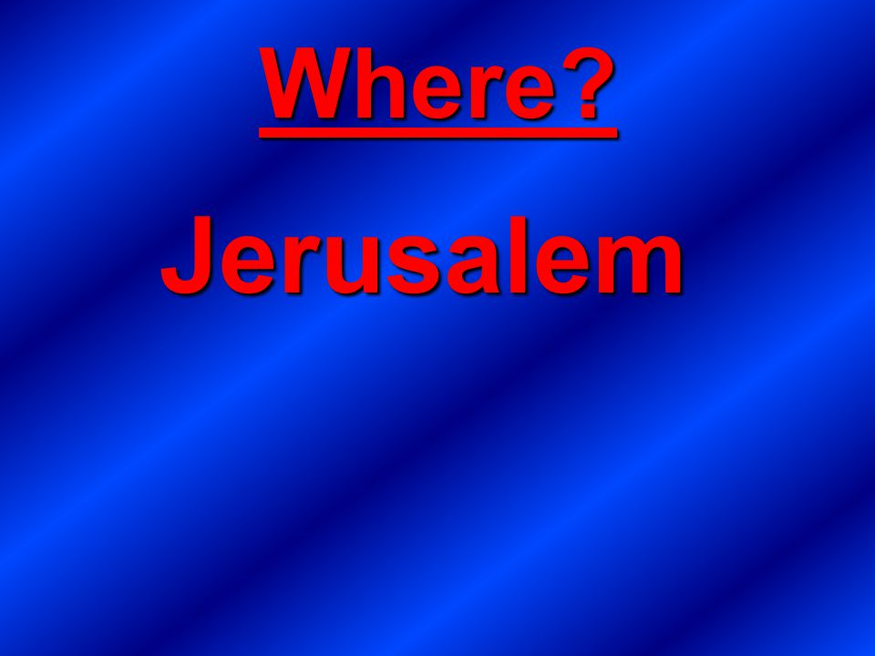 Where Jerusalem