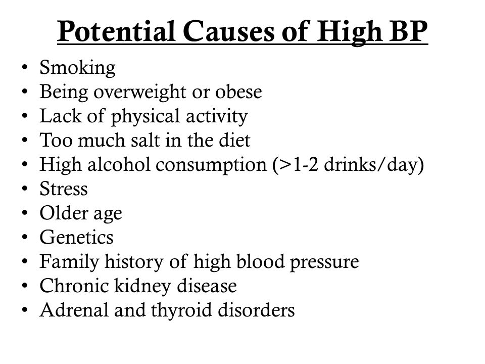 Potential Causes of High BP