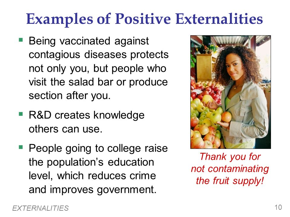 Examples of Positive Externalities