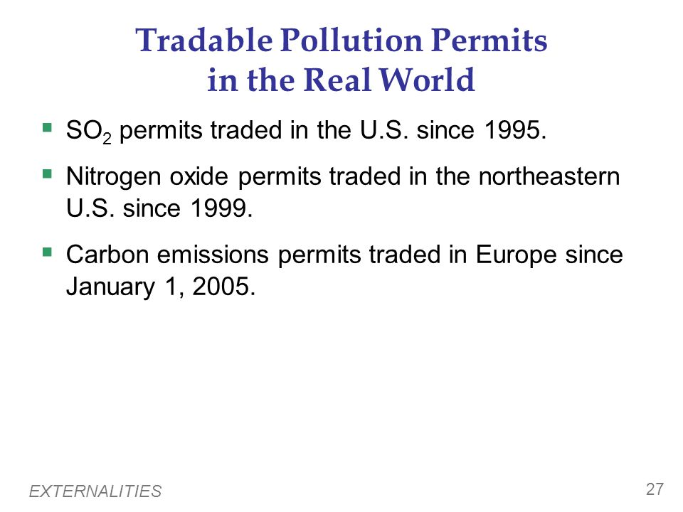 Pollution permit trading system