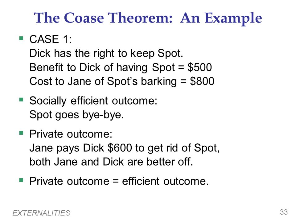 The Coase Theorem: An Example