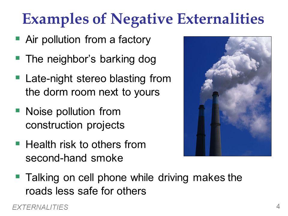 Examples of Negative Externalities