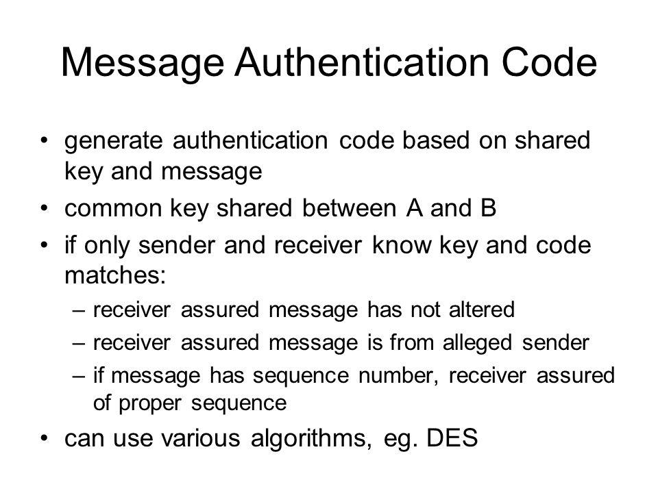 Message Authentication Code