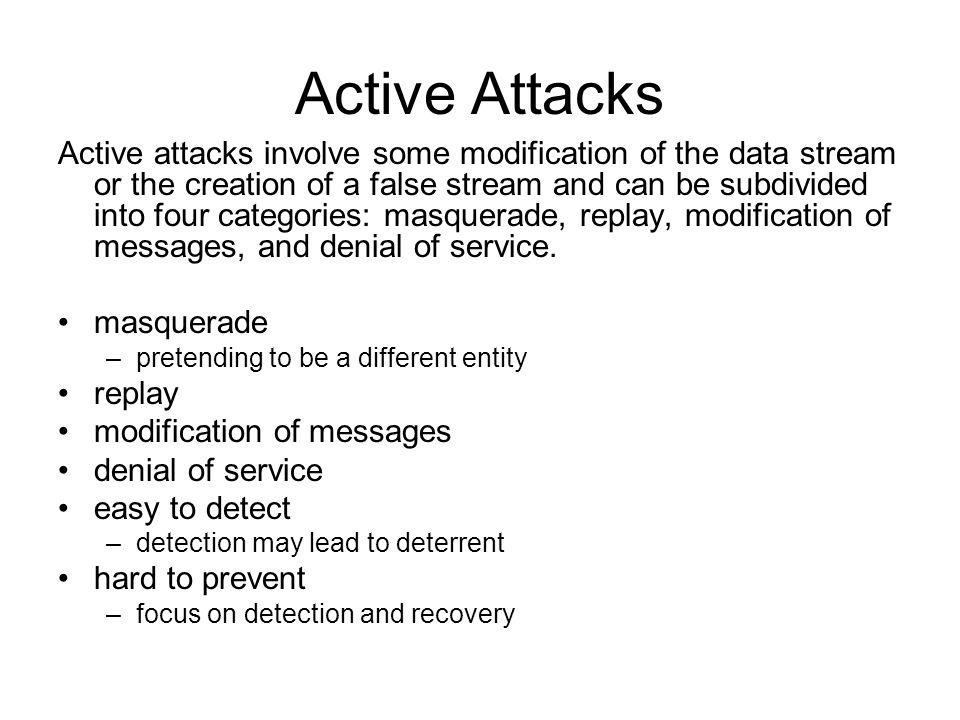 Active Attacks