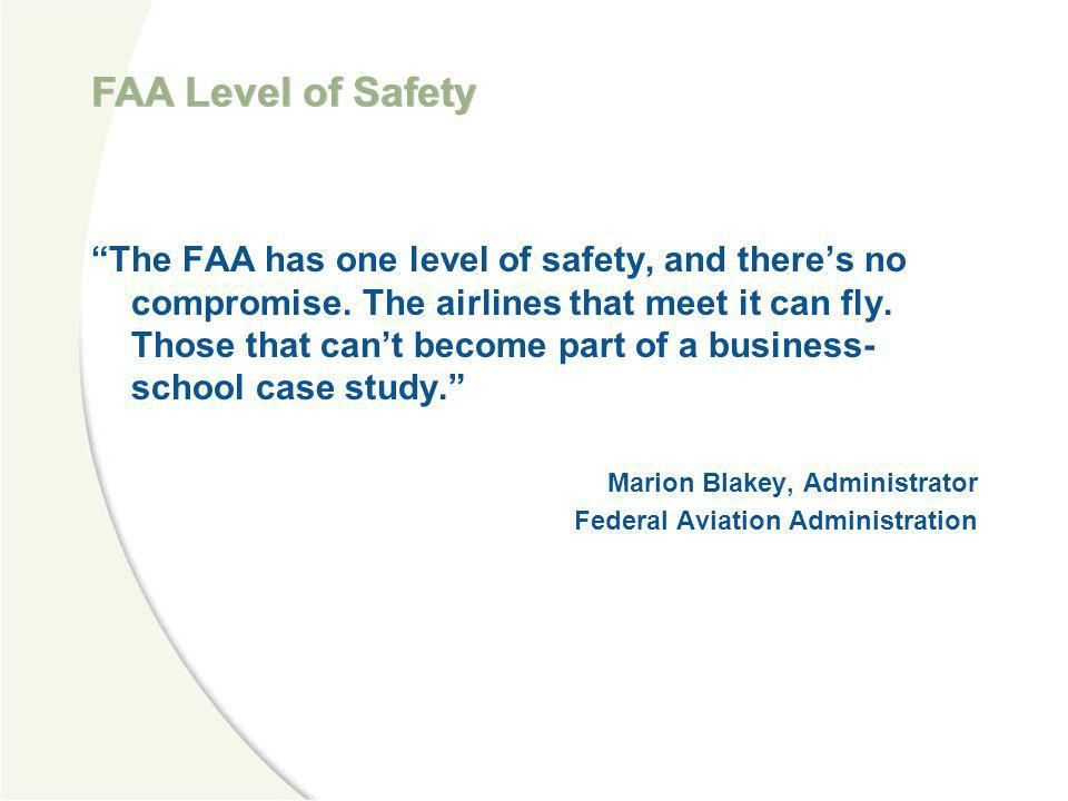 FAA Level of Safety