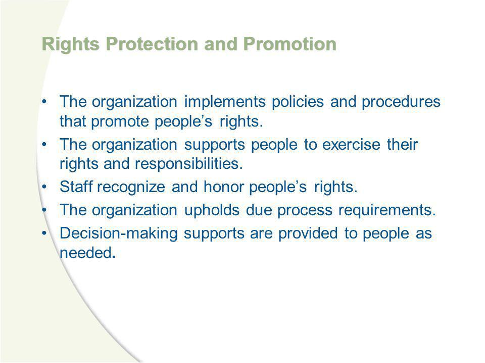Rights Protection and Promotion