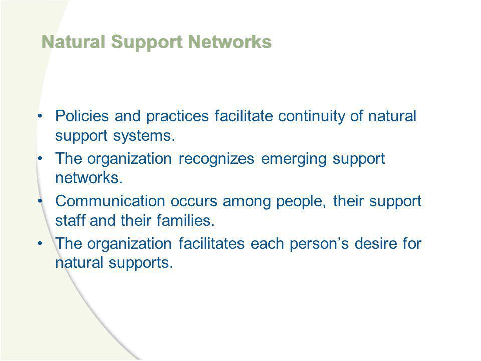 Natural Support Networks
