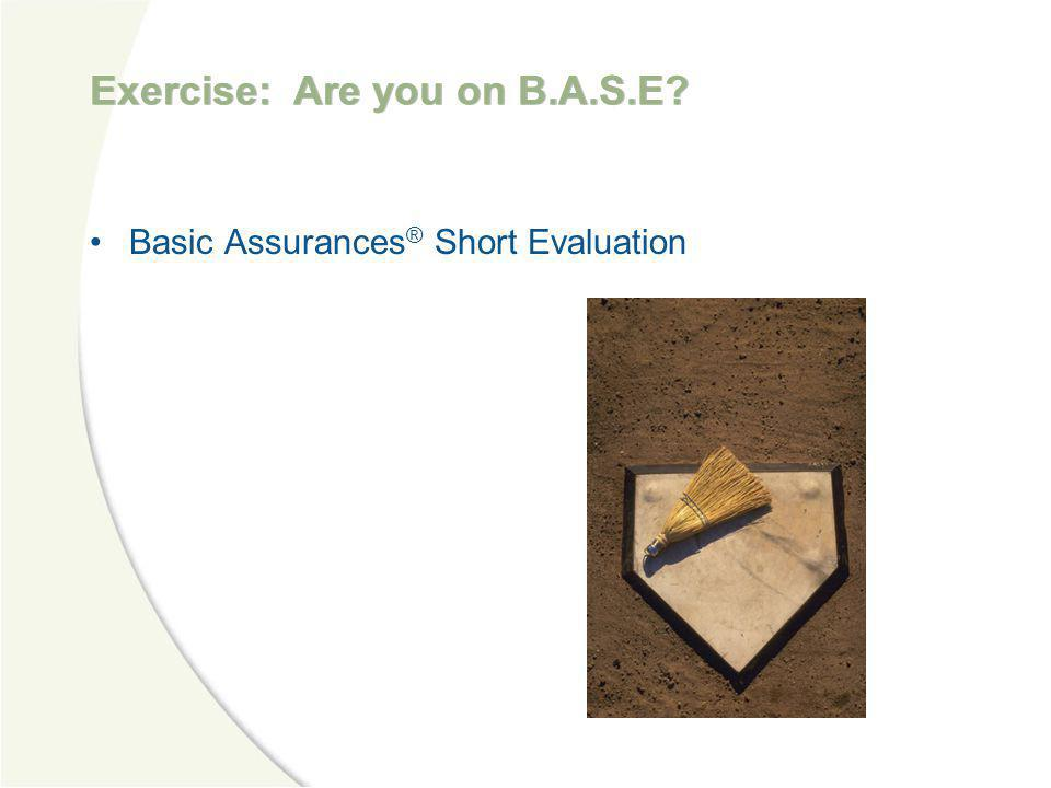 Exercise: Are you on B.A.S.E