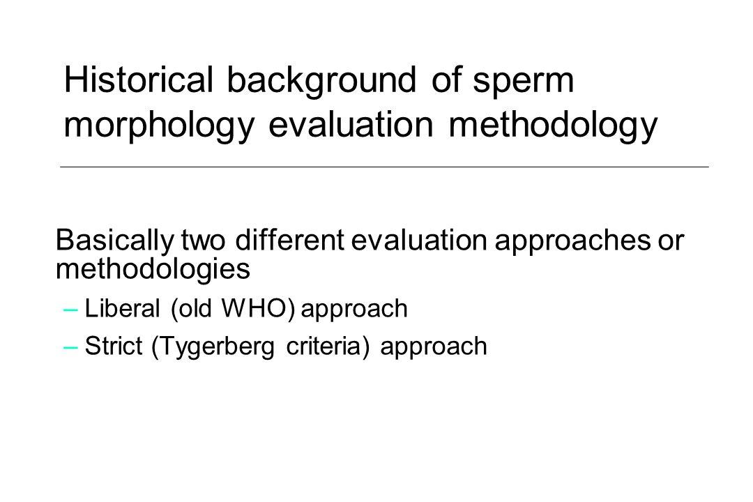 Historical background of sperm morphology evaluation methodology