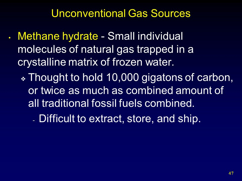 Unconventional Gas Sources