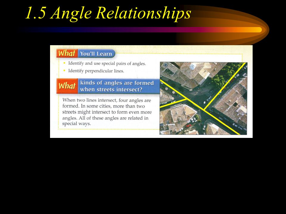 1.5 Angle Relationships