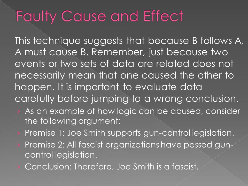 Faulty Cause and Effect