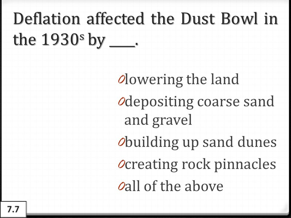 Deflation affected the Dust Bowl in the 1930s by ____.