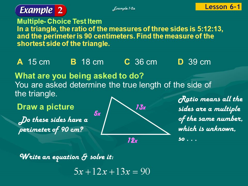 Do these sides have a perimeter of 90 cm
