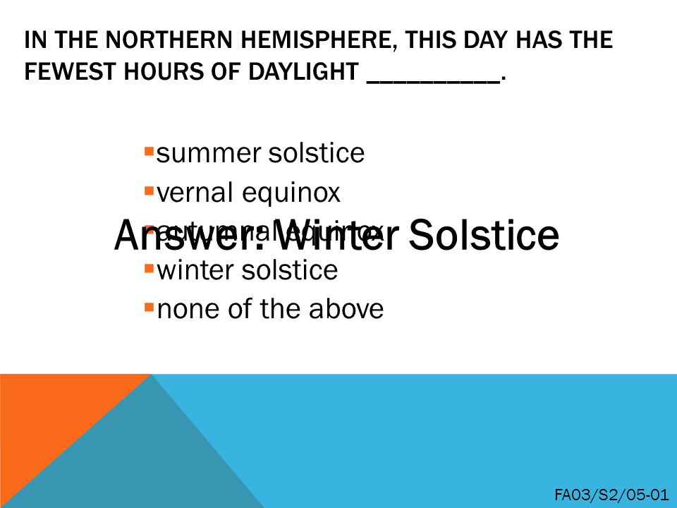 Answer: Winter Solstice