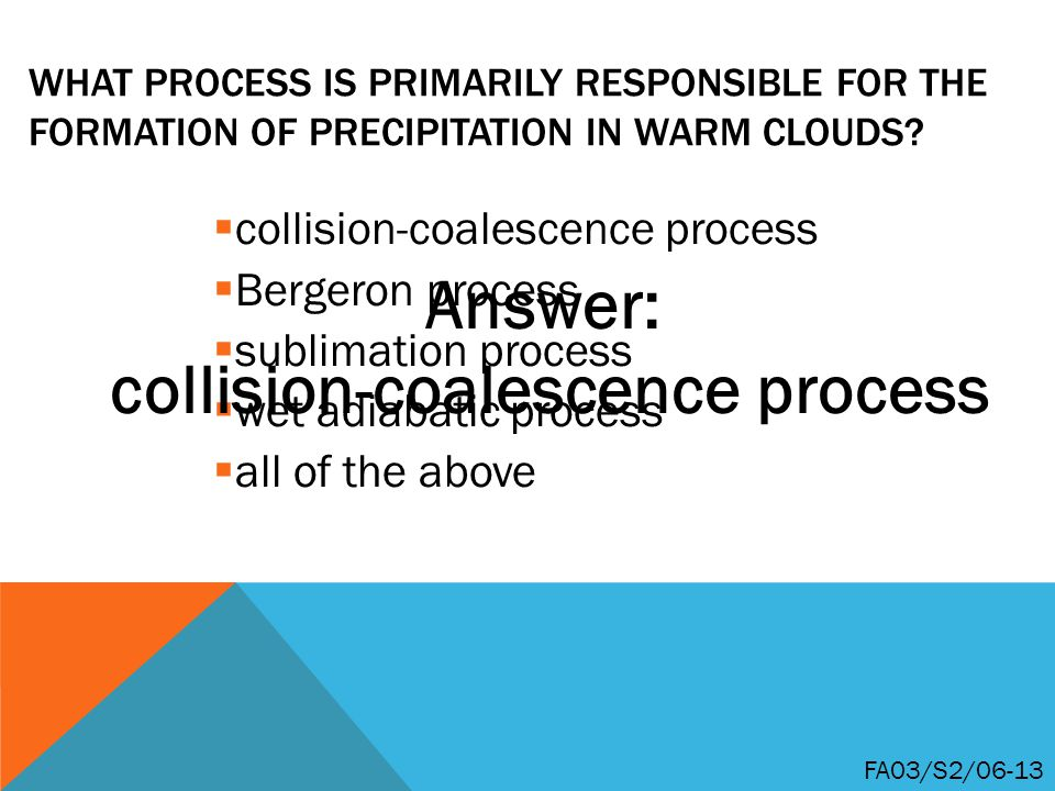 collision-coalescence process