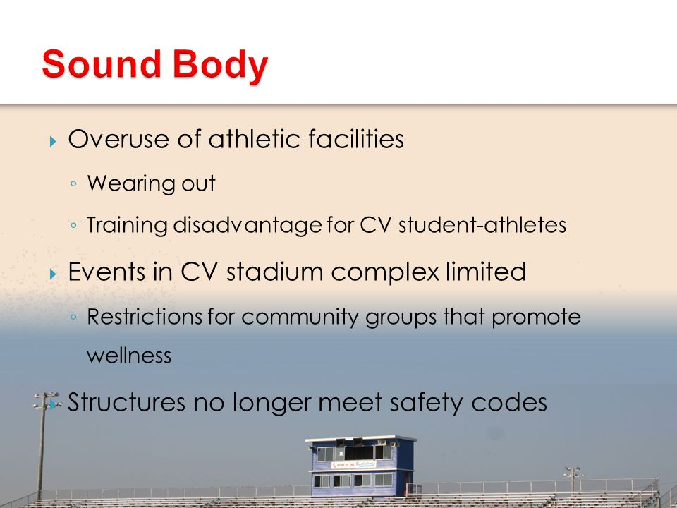 Sound Body Overuse of athletic facilities