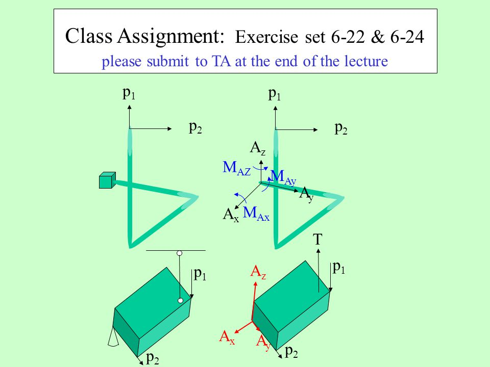 Class Assignment: Exercise set 6-22 & 6-24