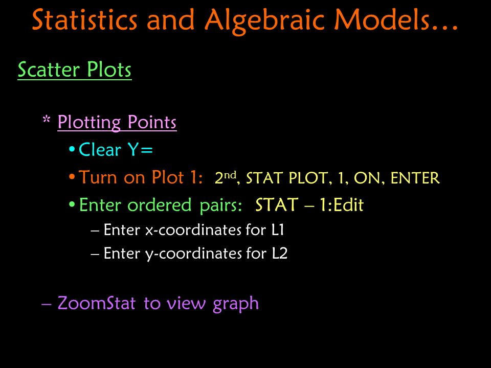 Statistics and Algebraic Models…