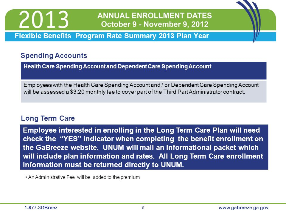 Flexible Benefits Program Rate Summary 2013 Plan Year