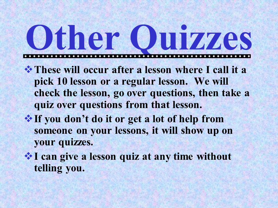Other Quizzes