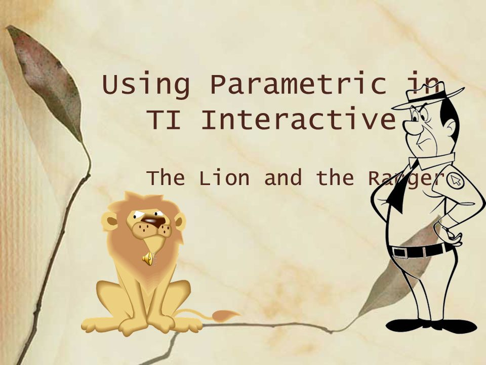 Using Parametric in TI Interactive